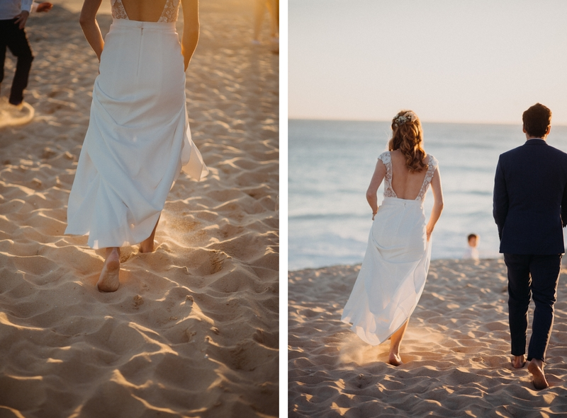 Photographe mariage reportage destination wedding photographer Cap Ferret Bartherotte Gironde Bordeaux mer sable plage mariee-141