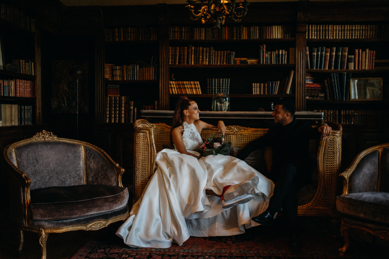 Photographe mariage seance photo reportage wedding photographer destination domaine des saints peres montagnole sorcier wood foret dark harry potter boho moody-13