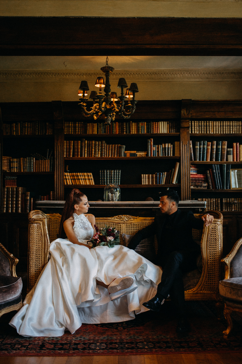 Photographe mariage seance photo reportage wedding photographer destination domaine des saints peres montagnole sorcier wood foret dark harry potter boho moody-14