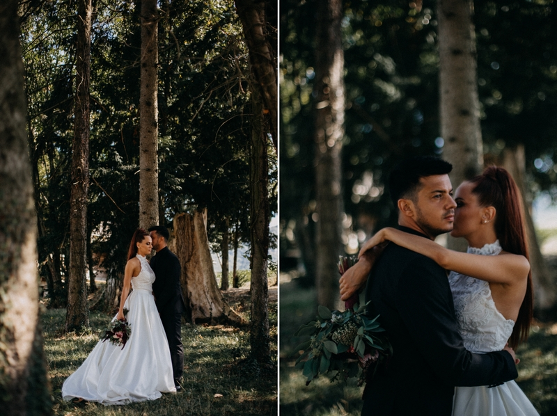 Photographe mariage seance photo reportage wedding photographer destination domaine des saints peres montagnole sorcier wood foret dark harry potter boho moody-20