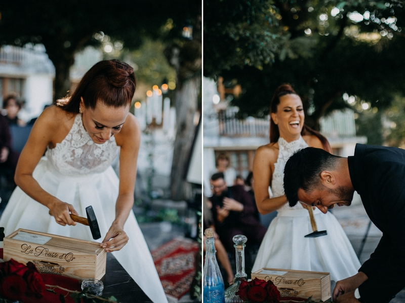 Photographe mariage seance photo reportage wedding photographer destination domaine des saints peres montagnole sorcier wood foret dark harry potter boho moody-38