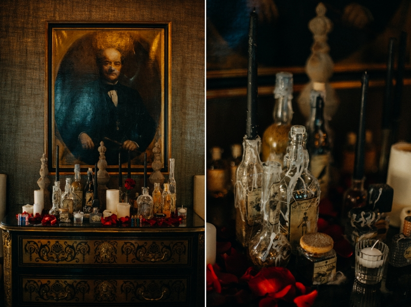 Photographe mariage seance photo reportage wedding photographer destination domaine des saints peres montagnole sorcier wood foret dark harry potter boho moody-62