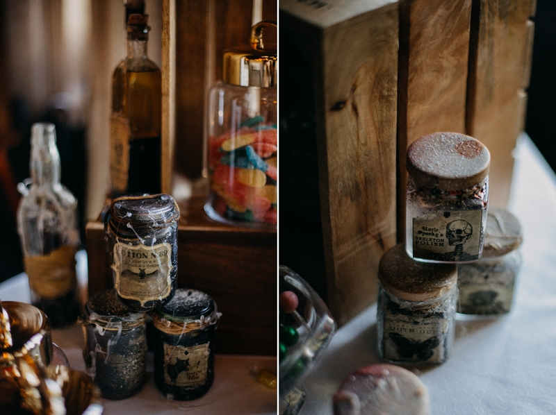 Photographe mariage seance photo reportage wedding photographer destination domaine des saints peres montagnole sorcier wood foret dark harry potter boho moody-72